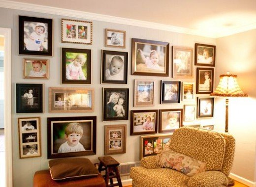 I love the look of this display which is haphazard, organized, and dramatic at the same time!