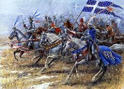 The French charge at Agincourt