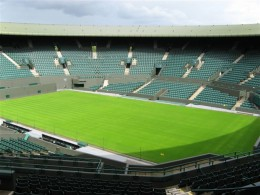 Wimbledon Centre Court. Just picture it covered with hair.