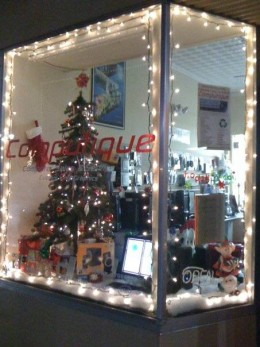 A downtown store ready for the celebration...