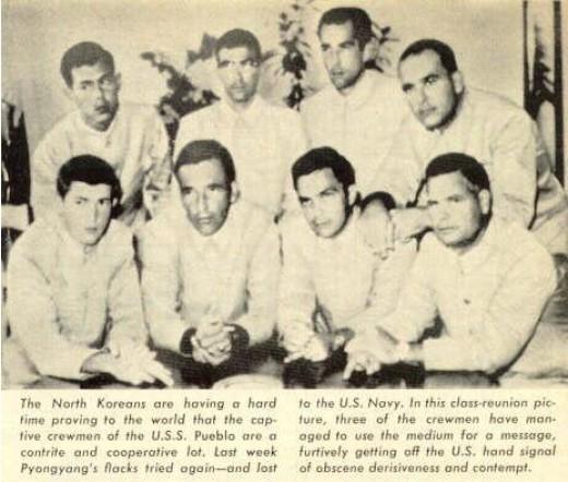 Crew Posing in Photo (note hands)