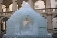 Ice nativity scene in Graz