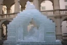 Ice nativity scene in Graz