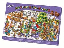 Advent calendar from Milka chocolates