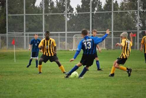 Quick reflexes are required to score at soccer