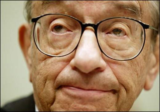 Alan Greenspan--follower of Ayn Rand who failed to regulate the big banks
