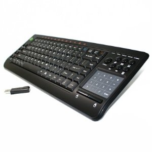 2.4GHz RF Wireless Keyboard with Smart Touchpad Mouse for MCE Media Center Edition