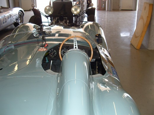 Jaguar D Type rear wing view