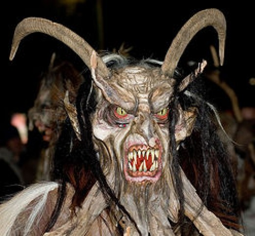 A scary looking Krampus!