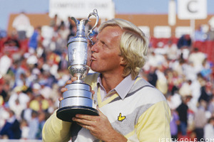 "Norman's triumph at Turnberry was his ""only"" major win in 1986"