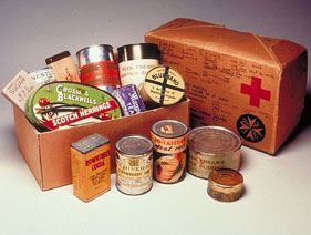 Red Cross Parcels of  WW2