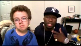 Keenan Cahill and 50 Cent