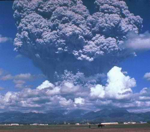 Mount Pinatubo in Pampanga, Philippines (1990)