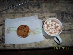 S'mores Made With Chocolate Chip Cookies, M&M's, and Marshmallows
