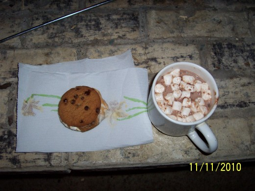 What could top a day better than warming up with a cup of hot chocolate and a S'more, after hanging out in the snow.