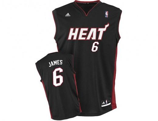 Miami Heat's No. 6 Lebron James