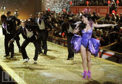 Katy Perry at 2010 Victoria's Secret Fashion Show Runway