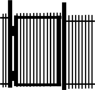 Average gate made with steel bar stock.