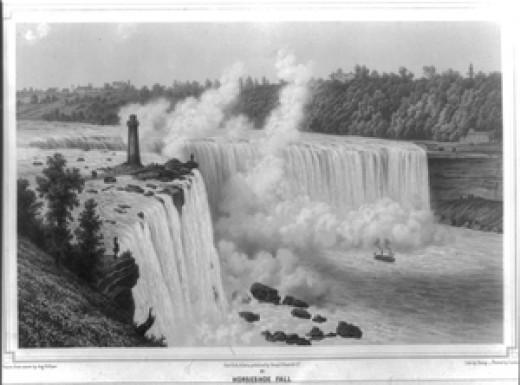 Niagara Falls Horseshoe Falls created May 24, 1849