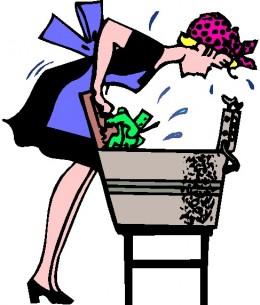 washin clothes the old way