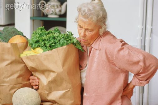 Focus on others instead of yourself.  Help someone with their groceries