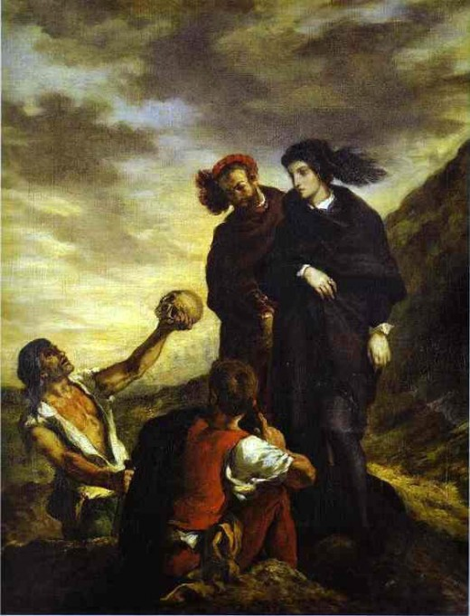 Hamlet and Horatio in the Graveyard (Eugene Delacroix)