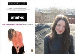 Left: Cover of Smashed.  Right: Author Koren Zailckas