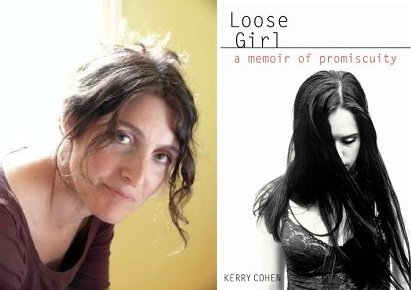 Left: Author Kerry Cohen Right: Cover of Loose Girl