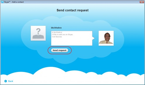 Diagram 6. Sending your personalized message to your friend to connect on Skype