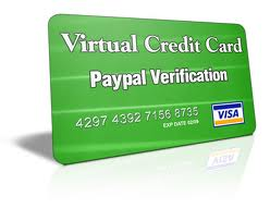 virtual credit card instant paypal verification