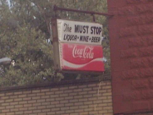 Liquor store.