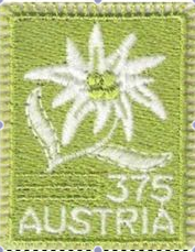 Austria's first embroidered stamp