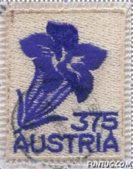 Edelweiss, Austria's second embroidered stamp.