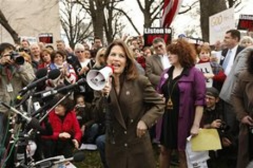 """Michele Bachmann, Tea Party Republican:""""Oops forgot to tell the farmers they're part of the deficit problem."""""""