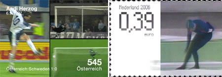 Austrian stamp depicting the win against Sweden.