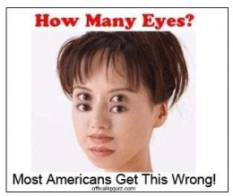 """In case you were wondering, the answer is """"Five, counting the word """"eyes"""" in the title."""""""