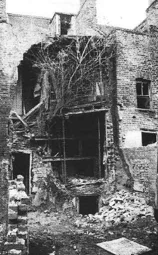 Damage after the bombing