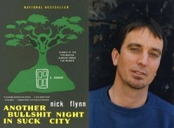 Left: Cover of Another Bullshit Night in Suck City Right: Author Nick Flynn