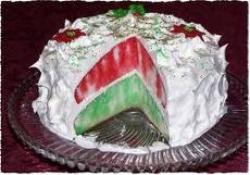 This is a double layer cake. Jello cake is perfect for the Holidays!