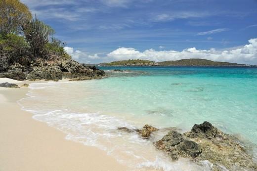 Caneel Bay, St. John. Beautiful Caribbean beach.