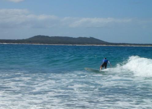 Big board, small wave