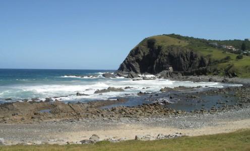 Black rock headland