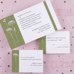 "This is NOT the way to word a ""response card"". You're asking for trouble! Photo courtesy: Carlson Craft Invitations."