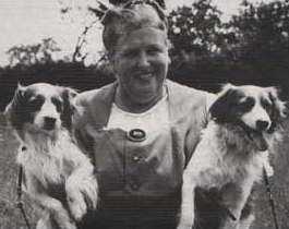 Baronesse van Hardenbroek with her dogs.  Picture from Google Images.