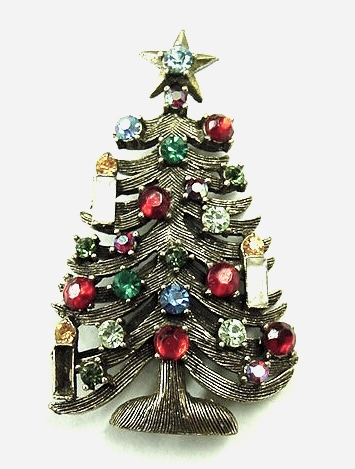 Weiss Christmas Tree Pin