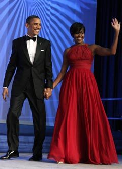 Michelle Obama Wears Sweeping Red Dress at Phoenix Awards