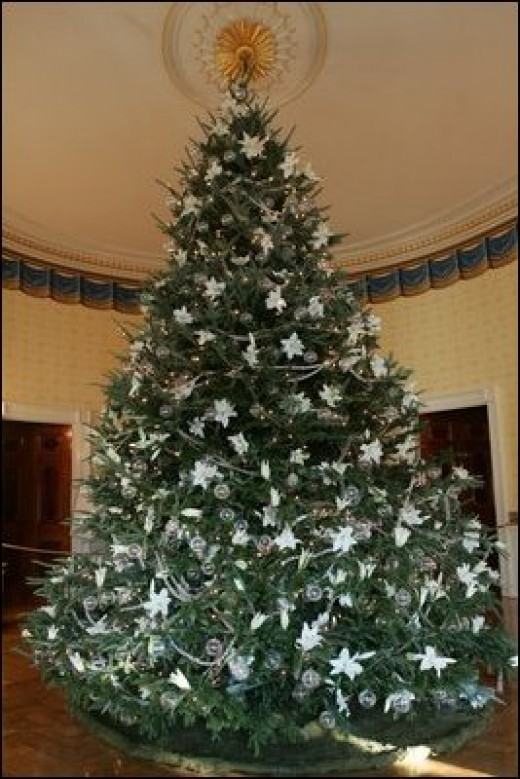 The Blue Room Christmas Tree at the White House in the United States