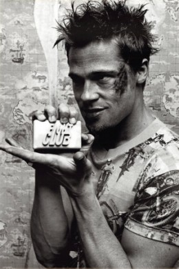 Brad Pitt played Tyler Durden in the David Fincher directed 1999 which starred Edward Norton as the nameless narrator.