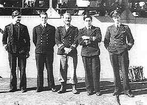 Five of the X-Craft commanders, 1942