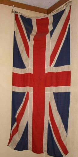 The British Union flag.